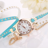 Crystal Rivet Bracelet Watch