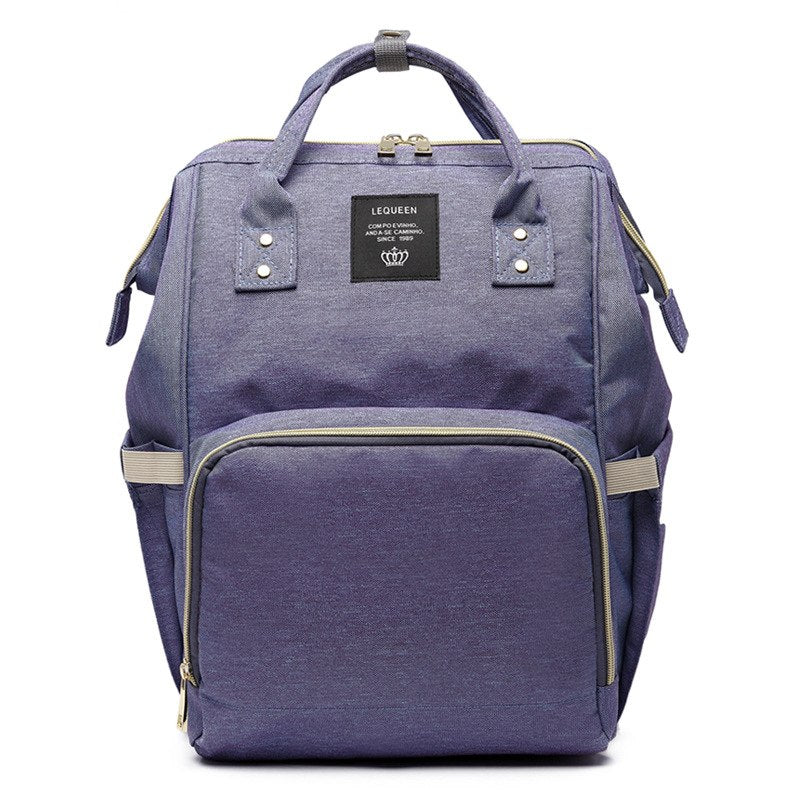 Baby Diaper Waterproof Travel Nappy Bag - Lilac