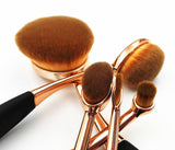Toothbrush Shape Super Fine Hair Foundation Makeup Brush 10pc Set - Gold/Rose Gold