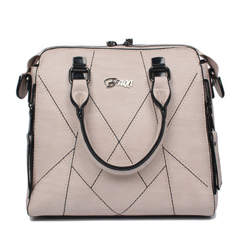 Ladies Cross Body Handbag - Beige