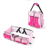 Multifunctional Baby Diaper Bag-Travel Bed - Pink