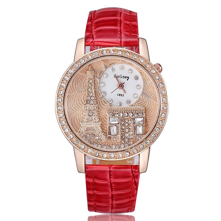 Ladies Eiffel Tower Watch - Red