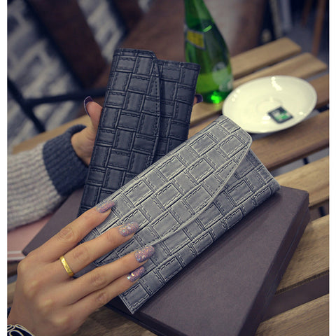 Ladies Knit Folded Wallets