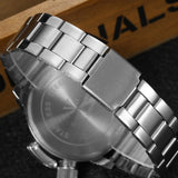 Men's Dual Dial Stainless Steel Watch