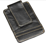 Genuine Leather Vintage Money Clip Wallet