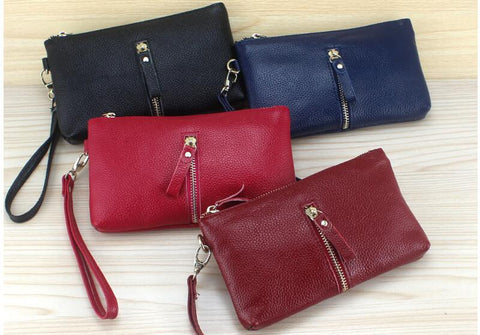 Genuine Leather Clutch Purse - 3 Colours