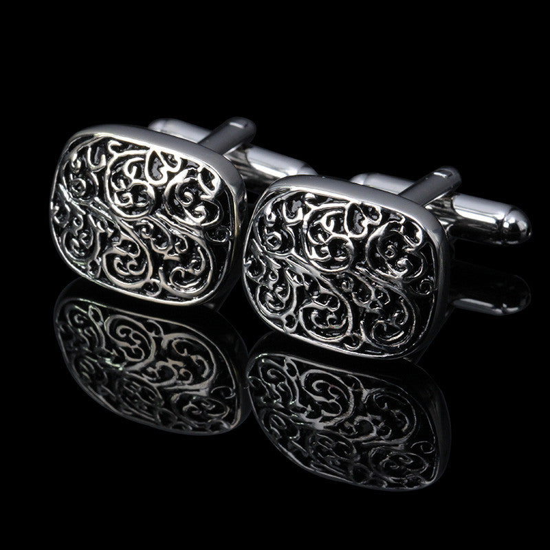 Wave Pattern Cuff Links