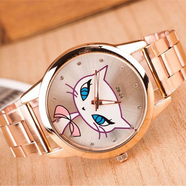 Ladies Stainless Steel Foxy WristWatch