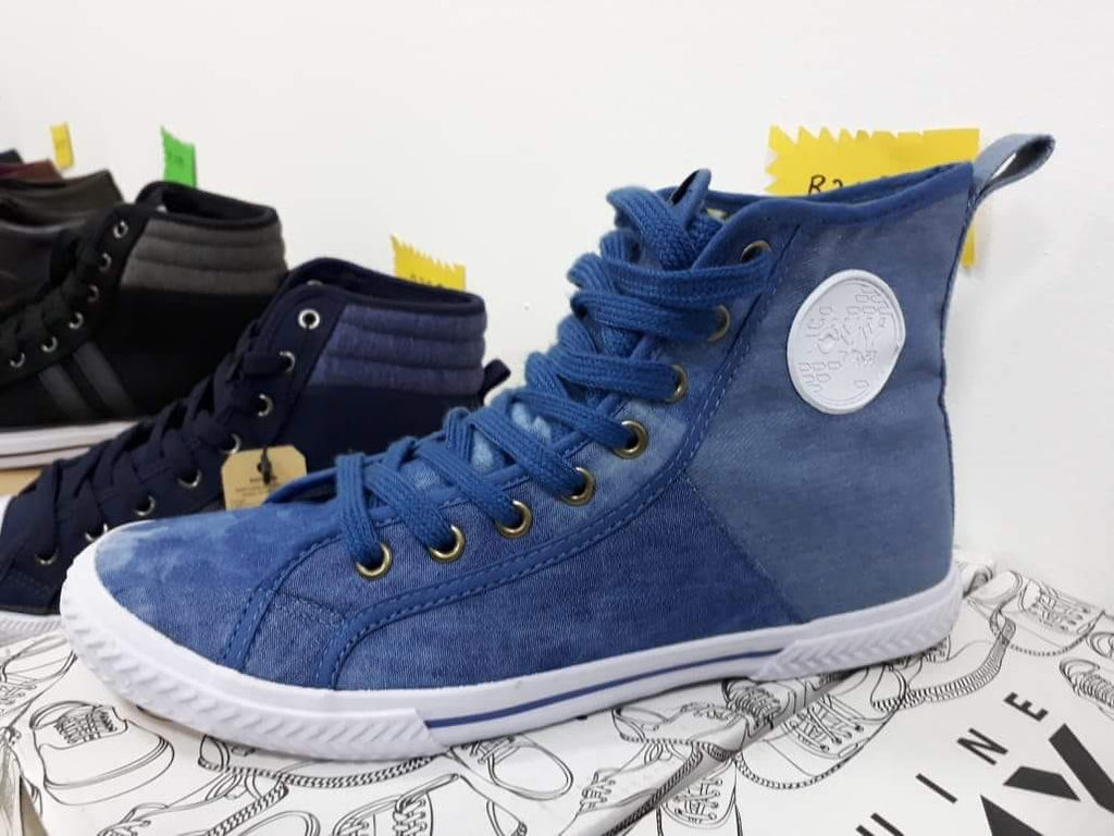 Tomy Takkies Lace Up Sneaker Denim Boot - blue