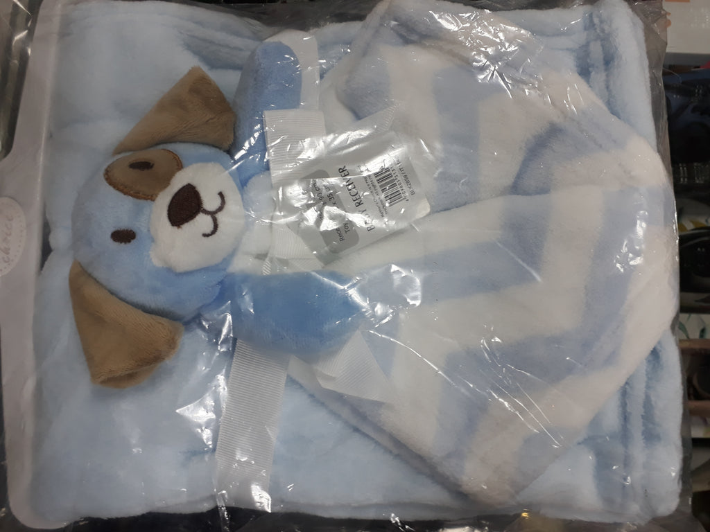 Baby Dudu Blanket with Teddy-Doggy