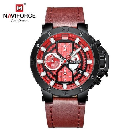 Men's Naviforce Stainless Steel Watch (9159) Sand of Time - Red