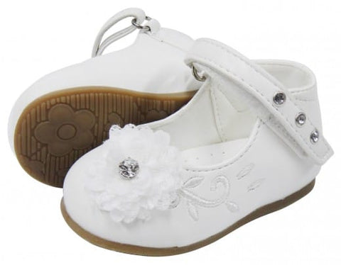 Girls Flower Leather Shoe