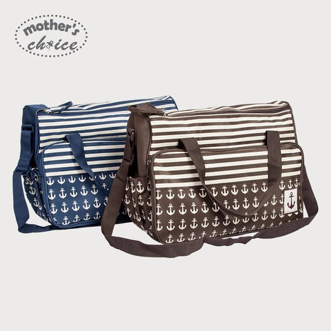 2pcs Baby Changing Diaper Nappy Bag - Navy Anchor