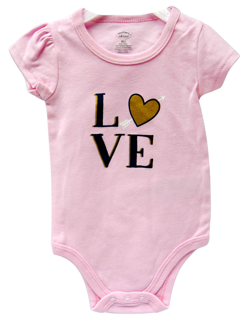 Babies Short Sleeve Rompers - Girls Love