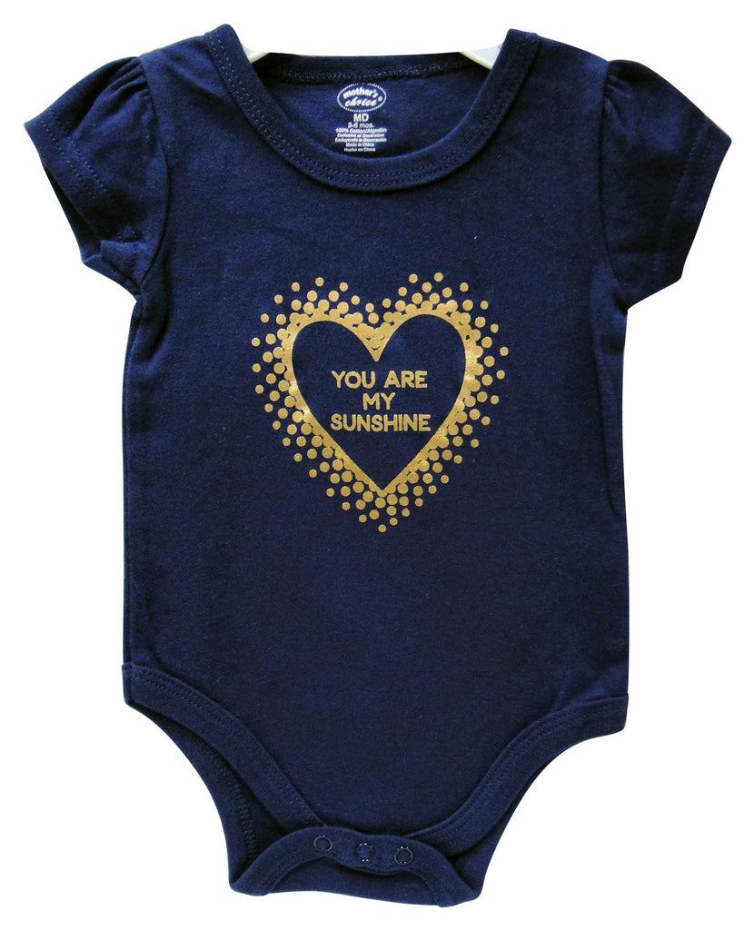 Babies Short Sleeve Rompers - You Are My Sunshine