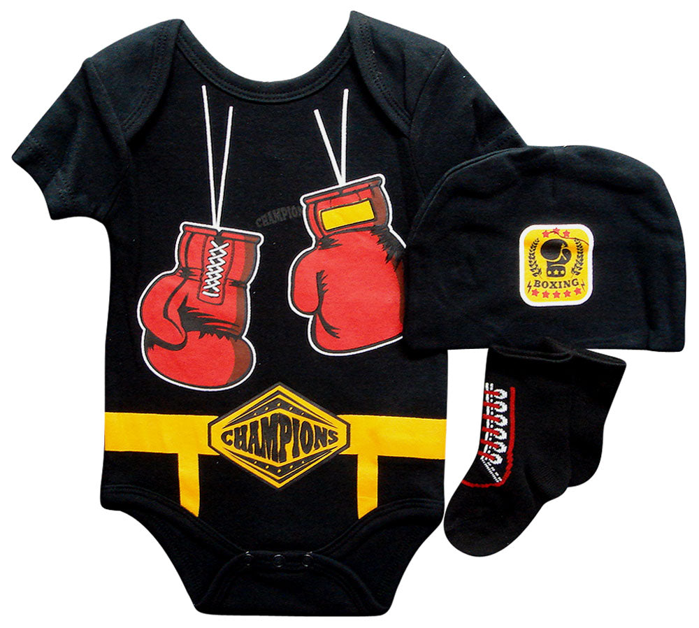 Babies 3pc Romper Sets - Boxer