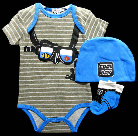 Babies 3pc Romper Sets - Diver