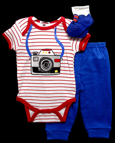 Babies 3pc Romper Sets - Photographer