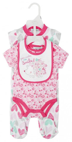 GIRLS 3PC SET ''YOU MAKE ME SMILE''