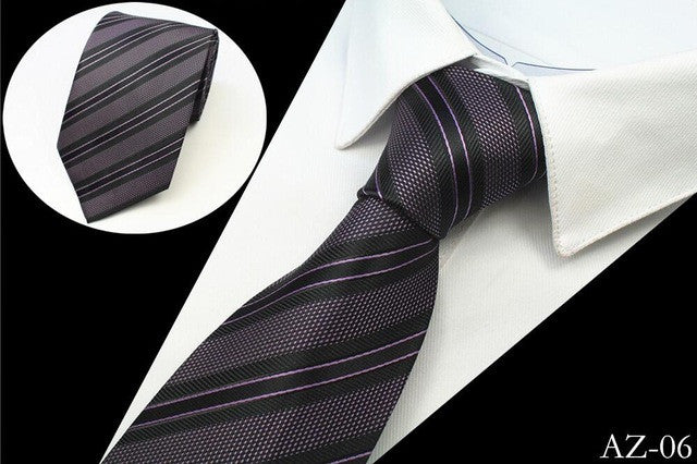 Men's Silk Ties - Black and Purple
