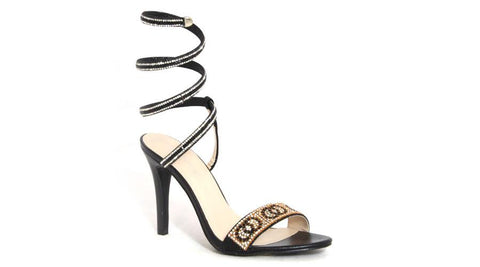 Spoilt Girls  Ladies Glamour Sandals - Black