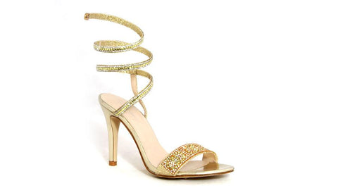 Spoilt Girls  Ladies Glamour Sandals - Gold