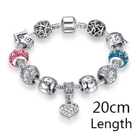 925 Charm Bracelets- Heart and Colours