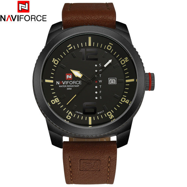 Men's Sports Naviforce Watches (Leather Band) - 2 Styles