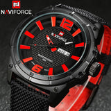 Men's Nylon Band Casual Naviforce Watches - 4 Styles