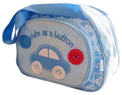 Round Diaper Day Pack - Blue