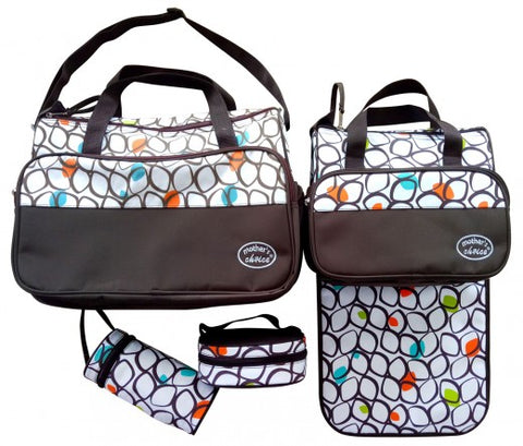 5pcs Baby Changing Diaper Nappy Bag - Dots