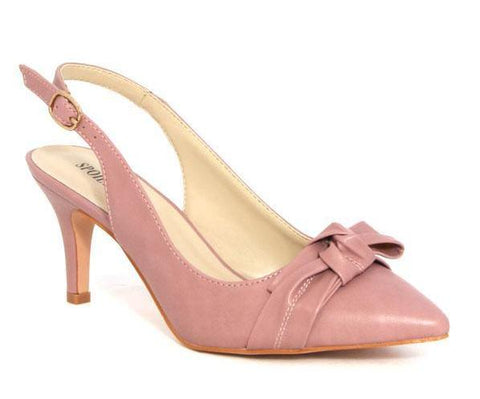 Spoilt Girls Bow Heels - Pink