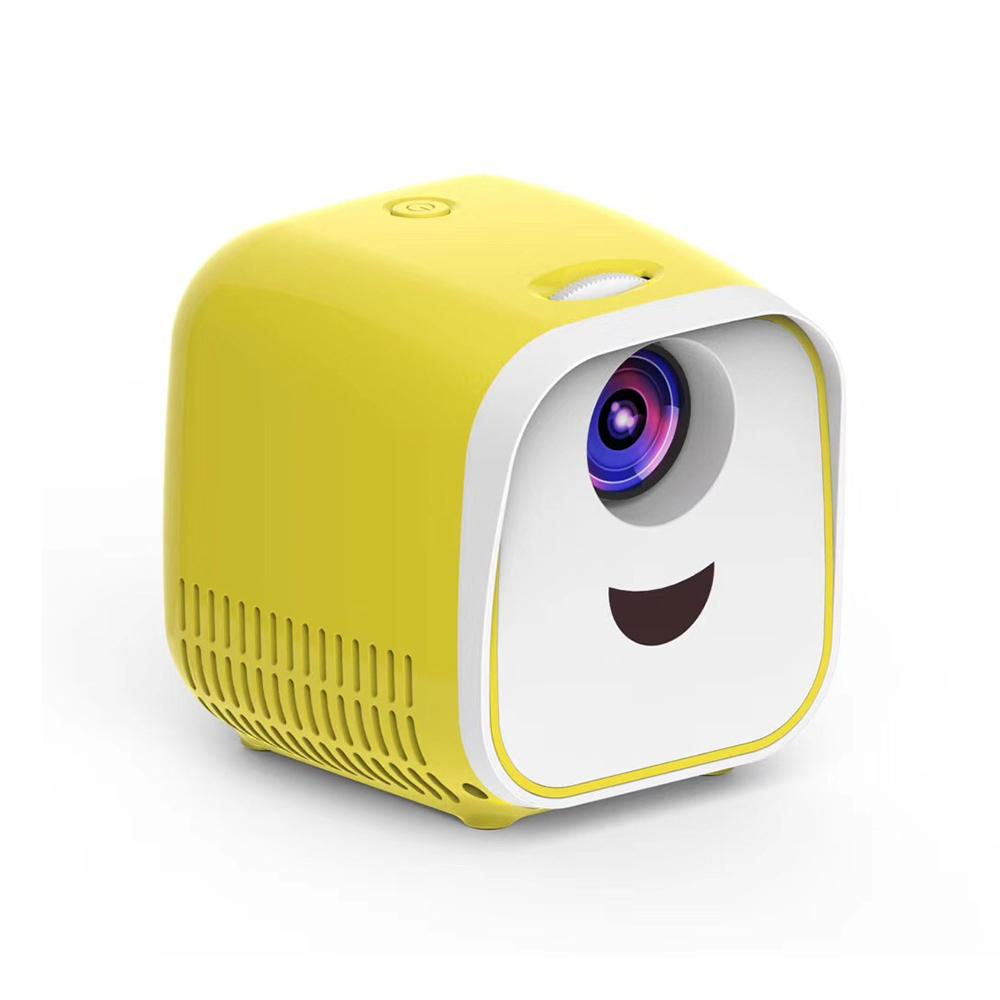 1000 Lumen Portable Mini LED Projector- white and yellow