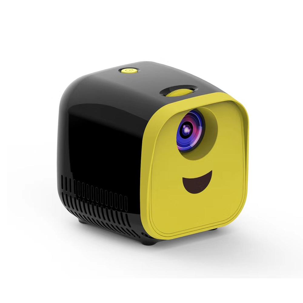 1000 Lumen Portable Mini LED Projector- black and yellow