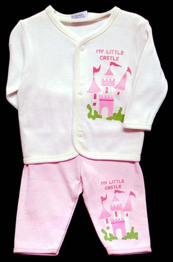 2PC LONG SLEEVE PAJAMA SET - GIRLS-CASTLE