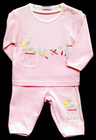 2PC LONG SLEEVE PAJAMA SET - GIRLS- LAUNDRY