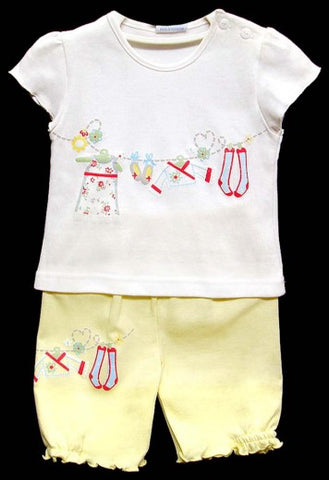 2PC SHORT SLEEVE PAJAMA SET - GIRLS- LAUNDRY