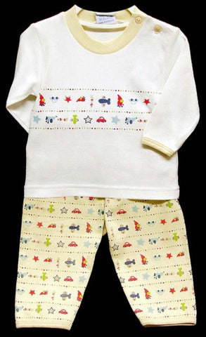 2PC LONG SLEEVE PAJAMA SET - BOYS -CARS