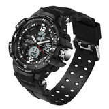 Men's Multifunction Dual Display Waterproof Sports Watch