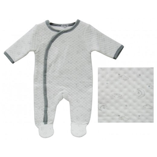 Infants quilted Romper  - Grey