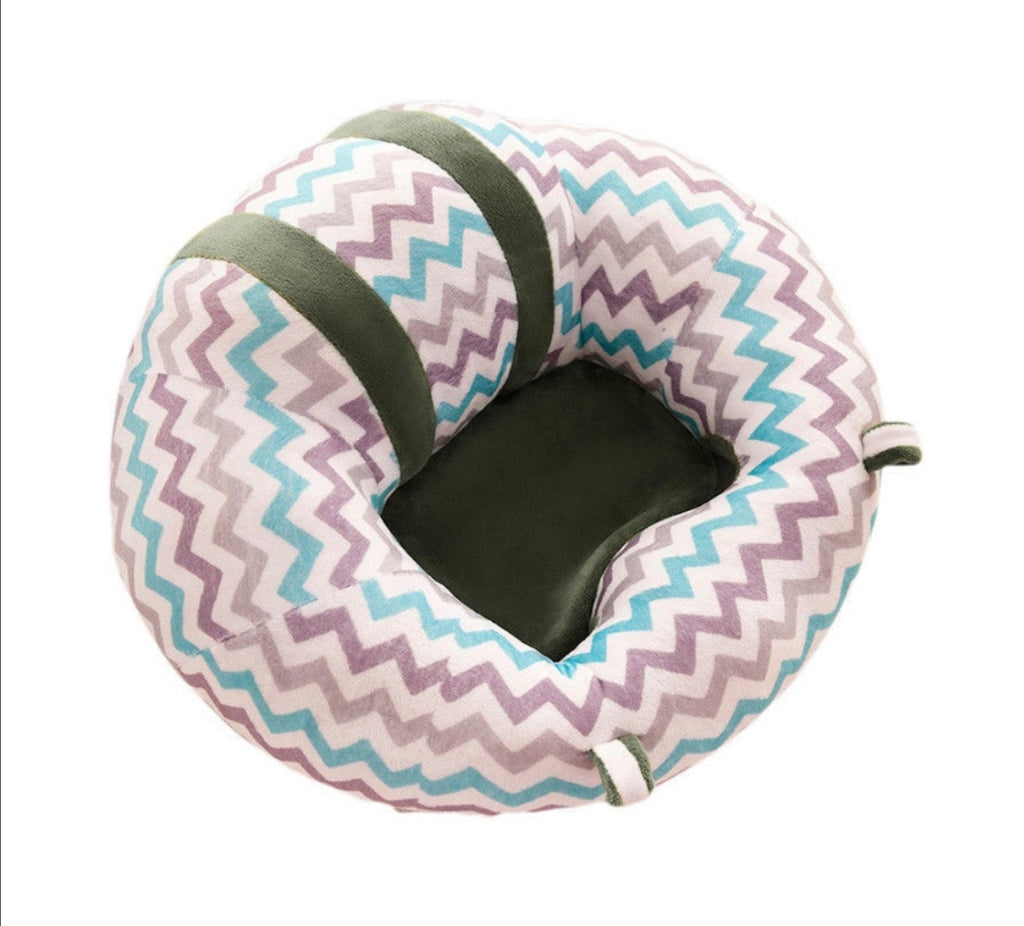 BABY SEAT SUPPORT SIT UP CHAIR SOFA PLUSH PILLOW - Green waves