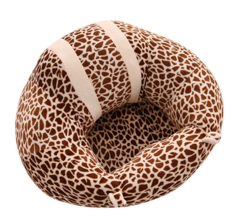 BABY SEAT SUPPORT SIT UP CHAIR SOFA PLUSH PILLOW - Leopard print