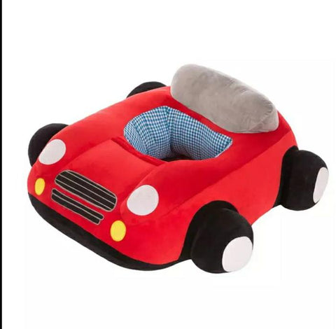 BABY SEAT SUPPORT SIT UP CHAIR SOFA PLUSH PILLOW - CAR - RED