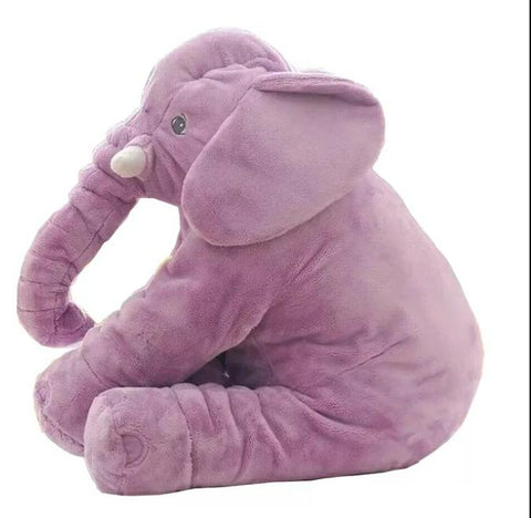 Elephant Soft Plush Stuffed Waist Pillow for Babies - Purple