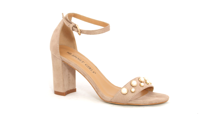Spoilt Girls  Fashion Heel - Nude