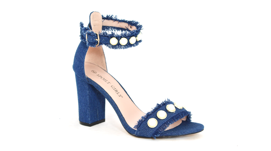 Spoilt Girls  Denim Block Heels