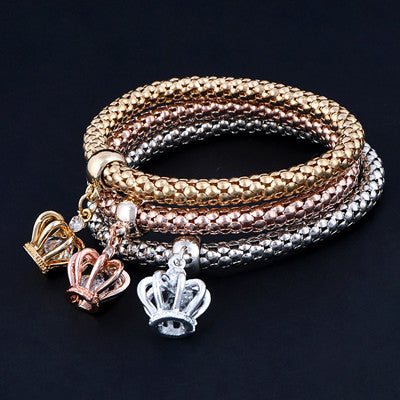 Crown 3pc layer Bracelets