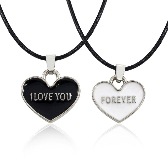 I Love You Forever Neck Chain - set of 2