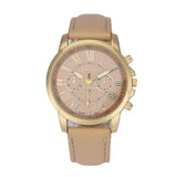 Ladies Analog WristWatch - Roman Numerals - Brown