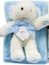 BABY WRAP WITH TEDDY - BLUE